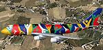 Screenshot of South African Boeing 747-300 in flight.