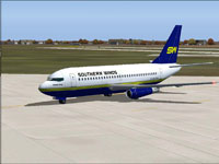 Screenshot of Southern Winds Boeing 737-2M6 ADV on the ground.