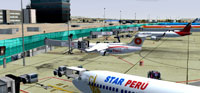 Screenshot of Star Peru jetliners at airport.