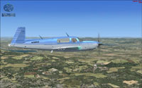 Screenshot of 'Switzerland 2008 VFR Mission' scenery.