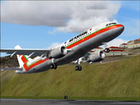 Screenshot of TAP Air Portugal Airbus A320-214 taking off.