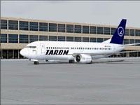 Screenshot of TAROM Boeing 737-36Q on the ground.