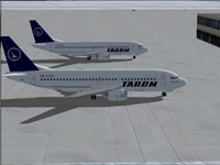 Screenshot of TAROM Boeing 737-38J on the ground.