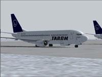 Screenshot of TAROM Boeing 737-38J on the ground.