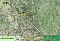 'The Airfield At Glowing Temple Mountain' route map.