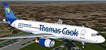 Screenshot of Thomas Cook Condor Airbus A320-200 in flight.