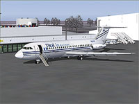 Screenshot of Tikal Jets BAC 1-11 on the ground.