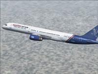 Screenshot of Travelspan Boeing 757-200 in flight.