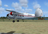 Screenshot of Twin Pioneer N9965F taking off.