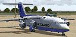 Screenshot of UKCargo BAe 146-200 on the ground.