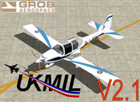 Screenshot of UKMIL Grob Tutor in flight.