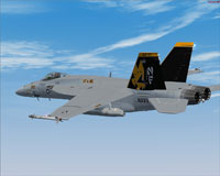 Screenshot of US Navy F/A-18E Superbug in flight.