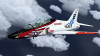 Screenshot of US Navy T-45C Goshawk in flight.