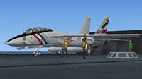 Screenshot of US Navy VF-2 F-14 Tomcat CAG preparing for take-off.