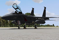 Screenshot of USAF F-15E on the ground.