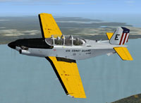 Screenshot of USCG T-34C in flight.