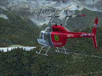 Screenshot of USFS Bell 206B N718BH in flight.