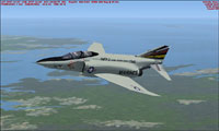 Screenshot of USMC F-4 Phantom II VMFP-3 157342 in flight.