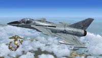 Screenshot of USMC FA201 Kestrel VMFA 122 in flight.