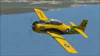 Screenshot of USMC T-28B VMIT-20 in flight.