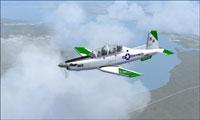 Screenshot of USMC VMFAT-101 T-6 in flight.