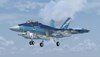 Screenshot of VAQ-129 Vikings CoNA Growler in the air.