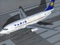 Screenshot of Varig Boeing 737-200 on runway.