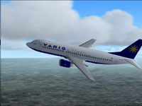 Screenshot of Varig Boeing 737-33R in flight.
