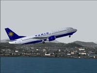 Screenshot of Varig Boeing 737-36N in flight.