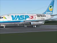 Screenshot of Vaspex Boeing 737-200 on runway.