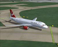 Screenshot of Virgin Atlantic Airbus A320-200 taxiing to runway.