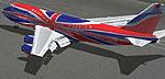 Screenshot of Virgin Atlantic Boeing 747-200 on the ground.