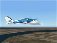 Screenshot of KLM Academy Beechcraft Baron 58 in flight