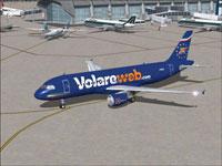 Screenshot of Volareweb.com Airbus A320 on the ground.