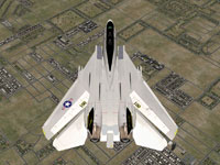 Top down view of F14D in flight.