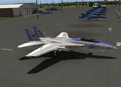 Screenshot of F14D on the ground.