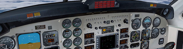 Cockpit of the Aeroworx B200.