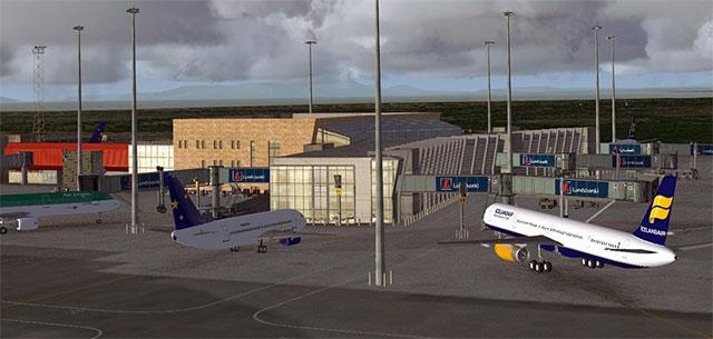 Aircraft at gate in Keflavik