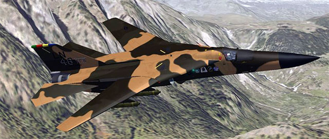 Alphasim's F111 in FS2004.
