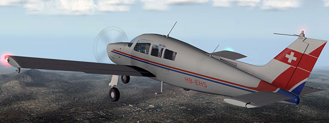 The Beechcraft Sundowner in X-Plane.