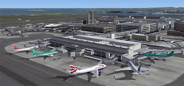 Aerosoft's Boston Logan scenery
