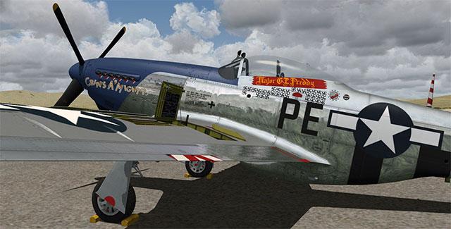 Warbirdsim's Mustang in FSX.