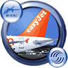 Icon showing easyJet Airbus A31 tail decal.