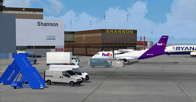 Screenshot of Eirsim's Shannon Airport Scenery.