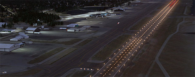 Runway and terminals at Fairbanks.