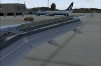 Screenshot of animated wing on A320-214.