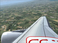 Screenshot of wing/engine view on A320.