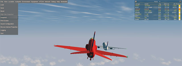 Multiplayer mode in FlightGear