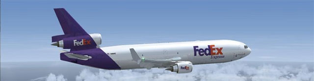 Overland MD-11 in FedEx livery.