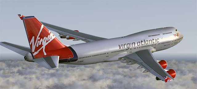 Virgin Atlantic paint scheme on PMDG's 747 X for FSX.